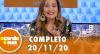 A Tarde é Sua (20/11/20) | Completo