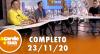 A Tarde é Sua (23/11/20) | Completo
