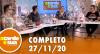A Tarde é Sua (27/11/20) | Completo