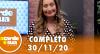 A Tarde é Sua (30/11/20) | Completo