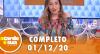 A Tarde é Sua (01/12/20) | Completo