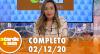 A Tarde é Sua (02/12/20) | Completo