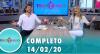 Tricotando (14/02/2020) | Completo