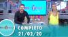 Tricotando (21/02/2020) | Completo