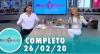 Tricotando (26/02/2020) | Completo
