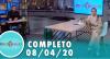 Tricotando (08/04/2020) | Completo
