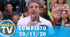 Você na TV (20/11/20) | Completo