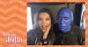 Júlia Pereira confere apresentação do Blue Man Group em Nova York
