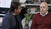 Amaury Jr conversa com o historiador Leandro Karnal nesta sexta (27)