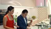 Dani Albuquerque e Amaury Jr. cozinham juntos no programa desta sexta (26)