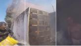 Policial entra em casa em chamas e salva idoso em Fortaleza