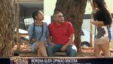 Morena pede opinião de casal e homens ficam de olho arregalado