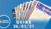 Resultado da Quina - Concurso nº 5476 - 26/01/2021