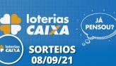 Loterias CAIXA: Mega Sena, Quina, Super Sete 08/09/2021