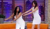 Gretchen ensina Luciana Gimenez a fazer a