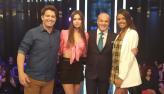 Mario Frias e modelos Maura Maurer e Flávia Barros estão no Mega Senha