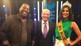 Miss Brasil Júlia Horta e Netinho de Paula participam do Mega Senha