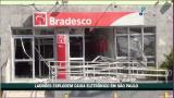 Ladr�es explodem caixa eletr�nico em S�o Paulo