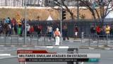 Militares simulam ataques em est�dios das Olimp�adas