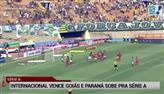 Internacional vence o Goiás e se garante na Série A