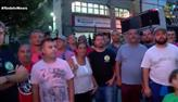 Motoristas de perua fazem manifestação em SP