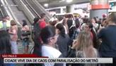 São Paulo vive dia de caos com greve no metrô