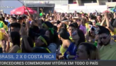 Brasileiros sofrem, mas vibram com vibram com vitória da seleção