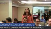 Jornalista Valéria Monteiro é impedida de falar em convenção do PMN