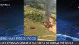 Dois homens morrem em queda de ultraleve na Zona Oeste do Rio
