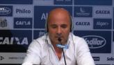 Santos apresenta o novo técnico do clube, Jorge Sampaoli