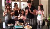Rodrigo Faro comemora aniversário com a mulher e as filhas: