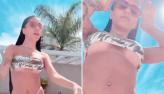 Mc Mirella ostenta corpão em ângulo ousado após saidinha sensual de piscina