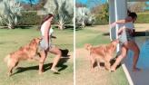 Rafa Kalimann leva mordida de cachorro no bumbum durante gravação