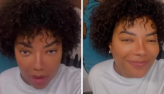 Ludmilla mostra cabelo natural: