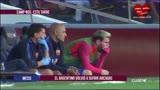 Em retorno ao Bar�a, Messi volta a sofrer com v�mito no banco de reservas