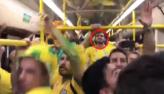 Caio Castro é flagrado zoando argentinos em ônibus na Rússia