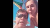 Renato Gaúcho cabula aula da CBF e curte praia com a filha Carol Portaluppi
