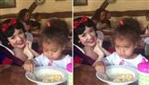 Menina ignora Branca de Neve ao ser interrompida enquanto comia e bomba na