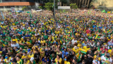 Ruas do Rio de Janeiro são tomadas por manifestantes em apoio ao governo