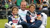 Barrichello fala de sua rela��o com os filhos