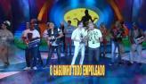 Grupo Molejo anima o S�bado Total com novo hit 'Amigo gaguinho'