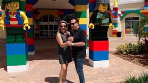 Amaury Jr. mostra parque Legoland, em Orlando, na Flórida
