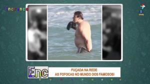 Serginho Mallandro se irrita com paparazzo após foto indiscreta
