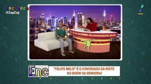 """Felipe Melo é o convidado do """"Show da Senhora"""""""
