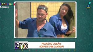 Biscui e Carlão vendem picolé com 'cantadas'