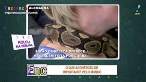 Salão de beleza na Alemanha oferece massagem feita por cobra