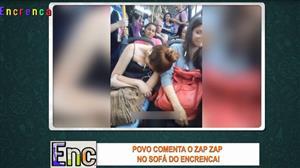 "Mulher ""apaga"" dentro de ônibus e viraliza no Zap Zap"