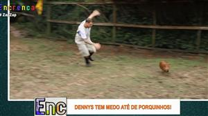 Dennys toma drible impressionante ao tentar capturar porquinho