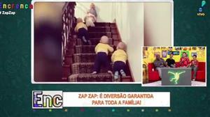 Crianças disputam a melhor corrida em escadas da história