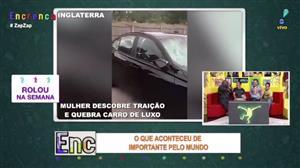 Mulher descobre traição e quebra carro de luxo